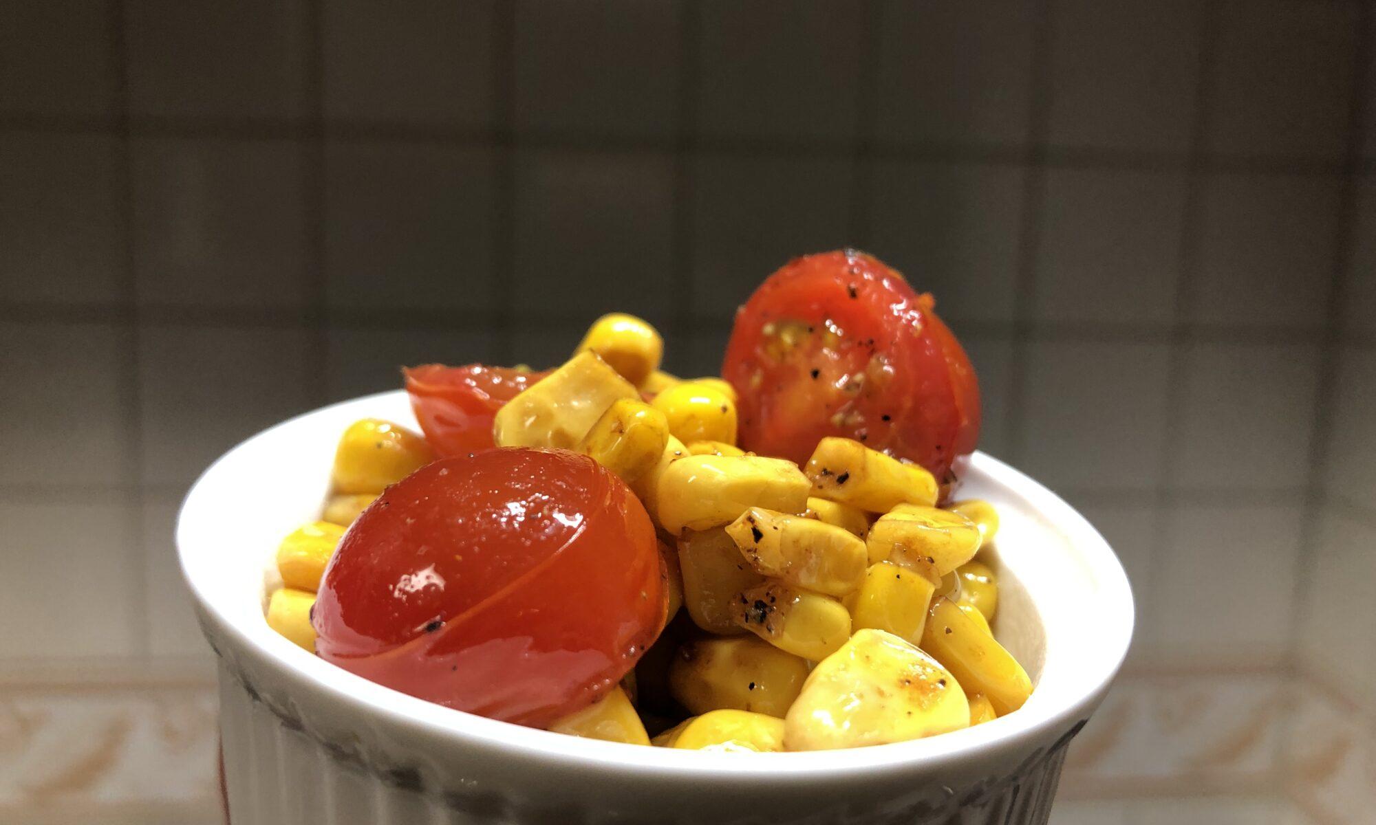 コーンとトマトのうま炒め